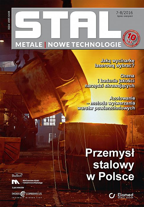 STAL Metale & Nowe Technologie wydanie nr 7-8/2016